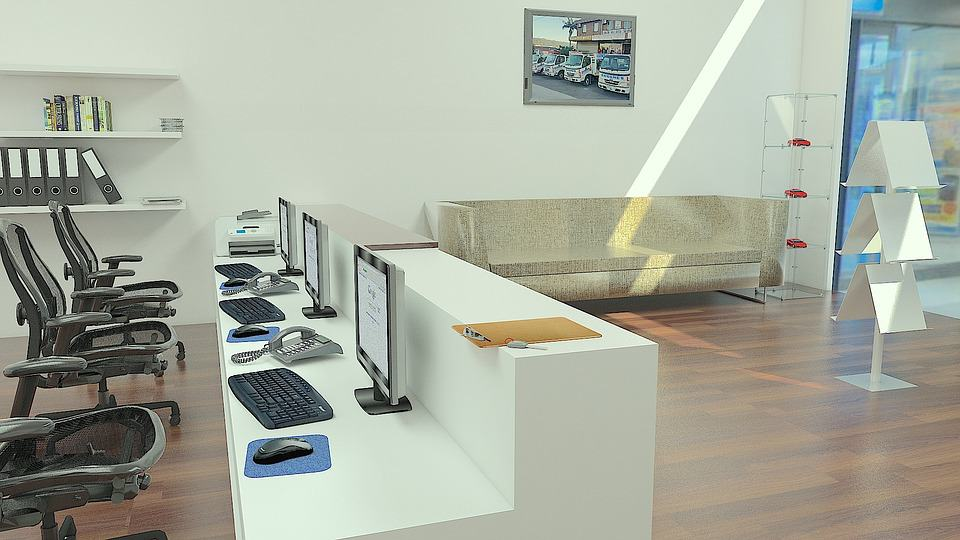 Office Interior 2D Render
