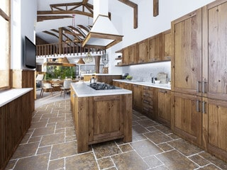 Modern Amenities for Rustic Interior