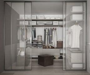 Glass Door Wardrobe Ideas