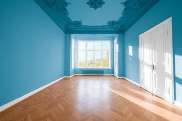 Coloured False Ceiling Interior Design