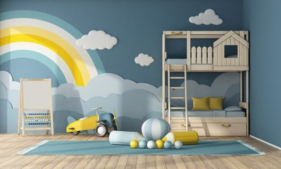 Kids Room with Bunker Beds