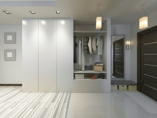Contrasting Wardobe with Walls and Floor Ideas