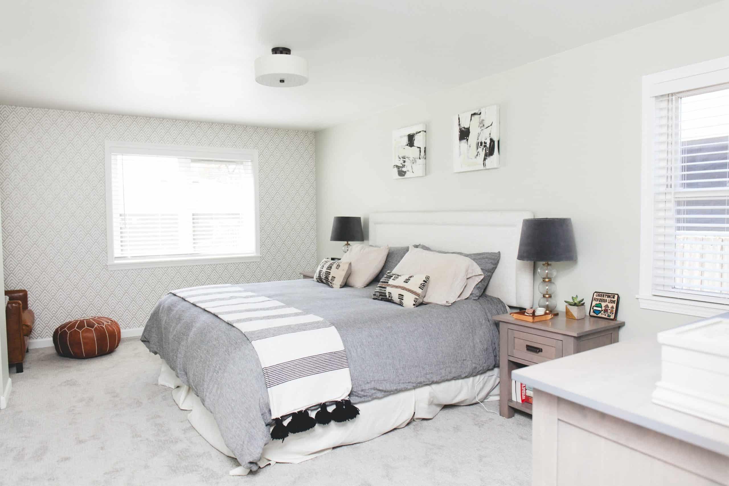 Grey Minimalist Bedroom