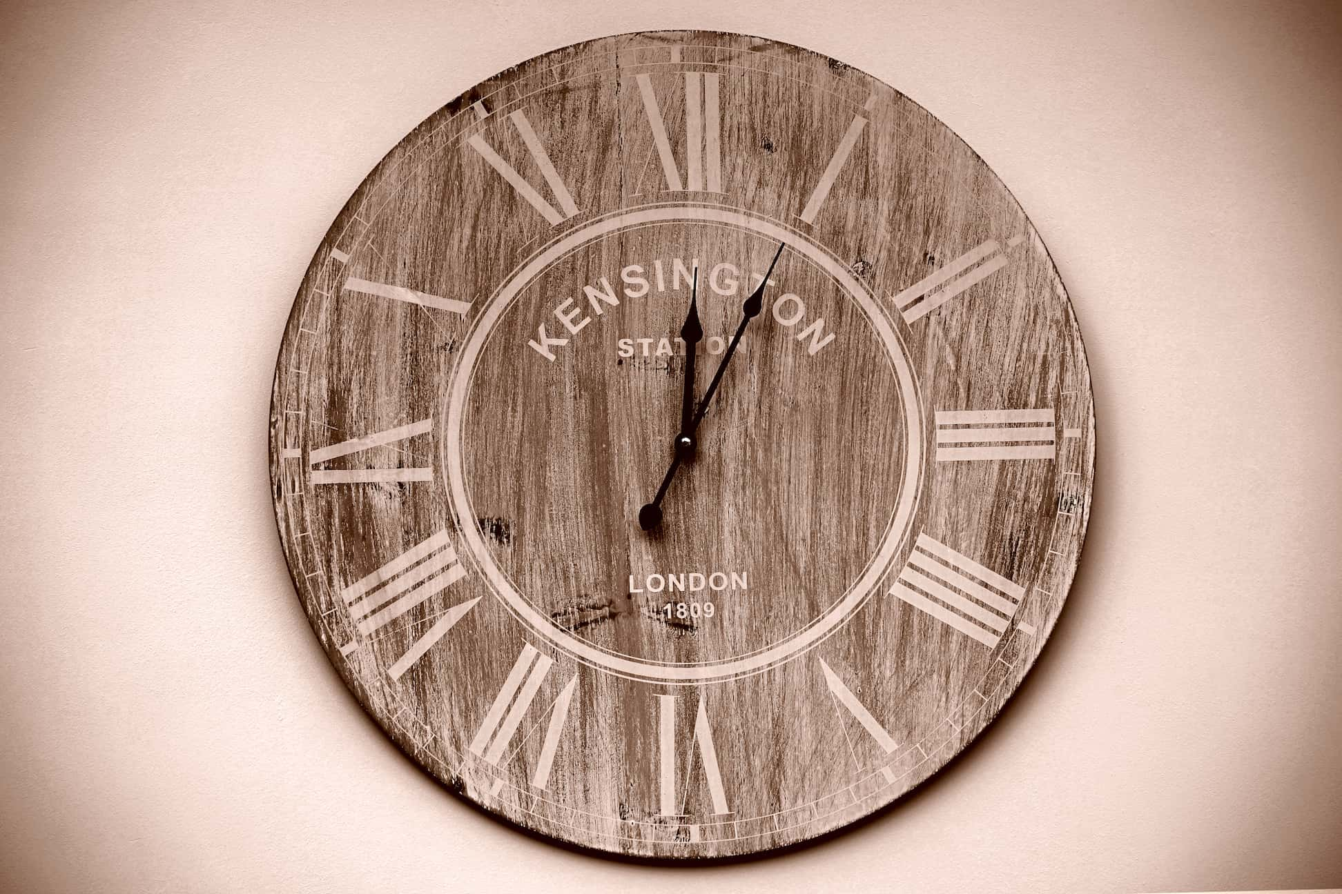 Rustic themed clock
