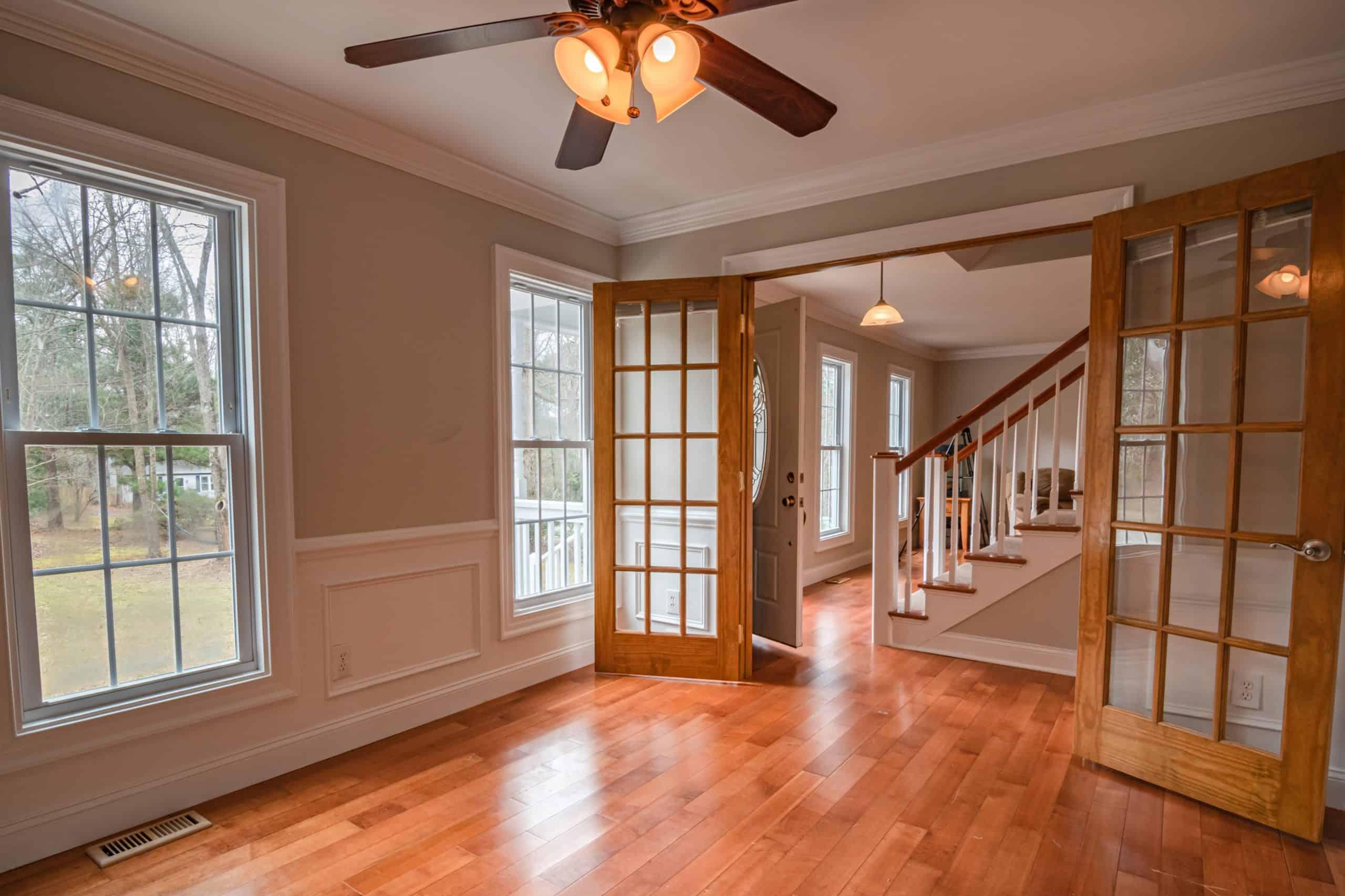 Wooden framed doors