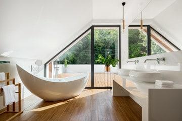 Bathroom space in villa