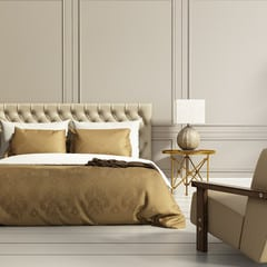 Golden and Beige Room in neutral colour scheme Interior design