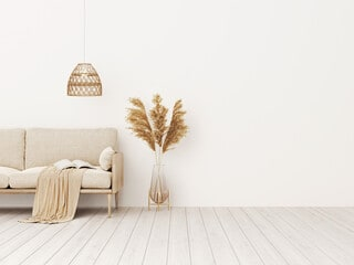 Earth Tones in Neutral Room