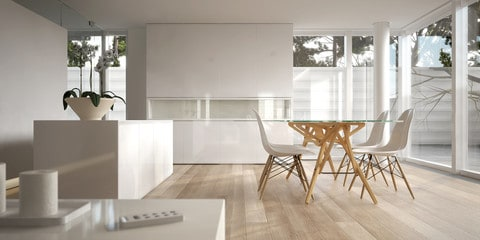 Glass In minimalism in Interior Design