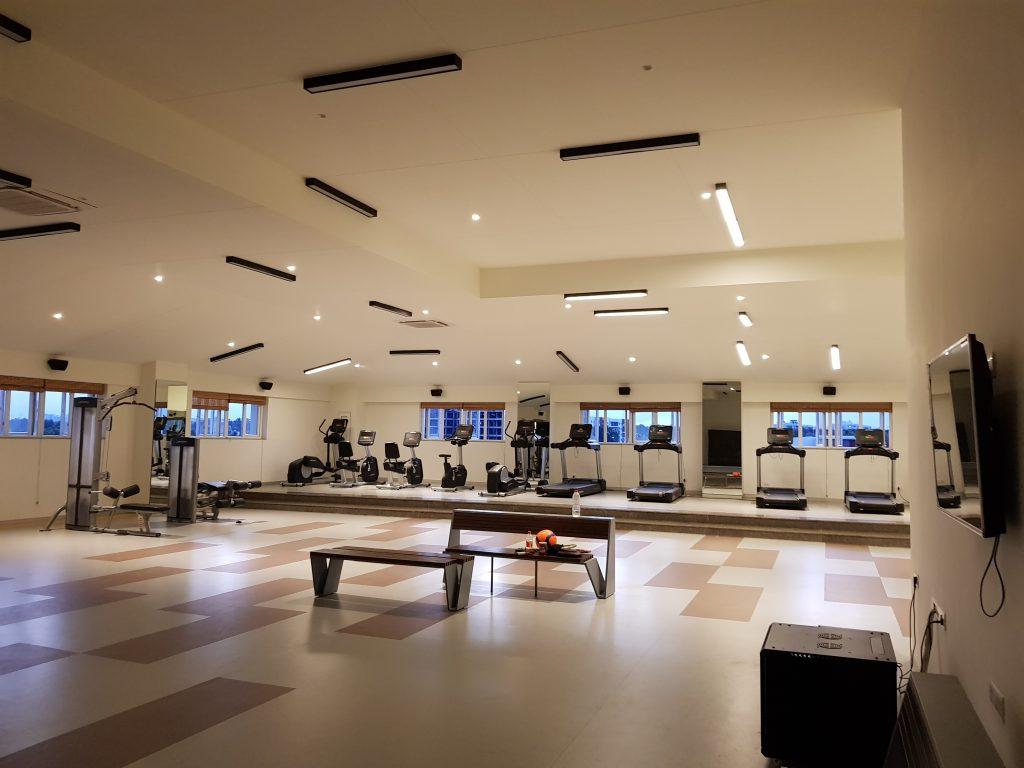 Gym flooring and decor