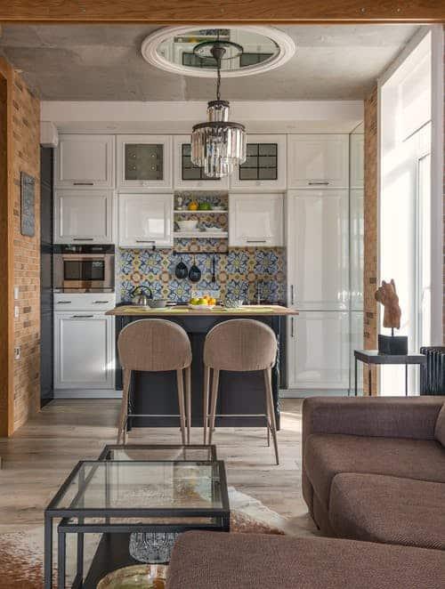 Kitchen in villa interior design