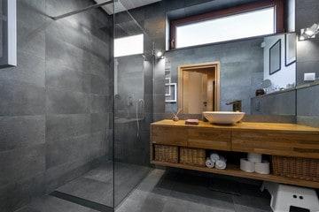 Minimalist bathroom interior