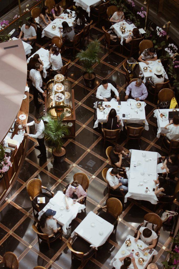 Layout plan for restaurant