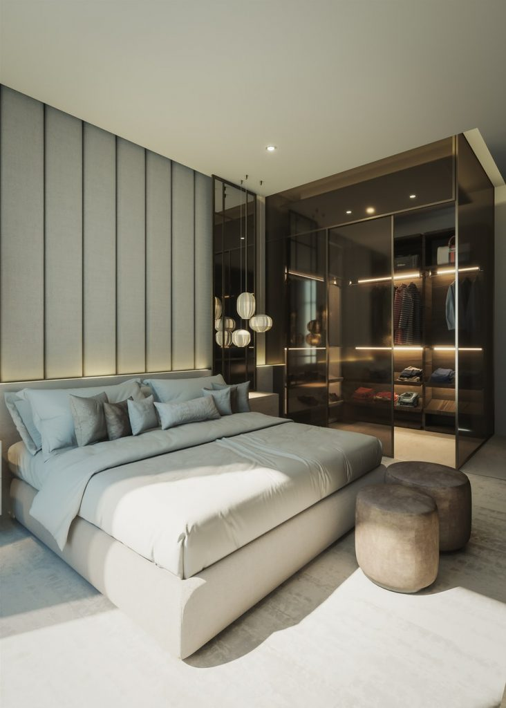 Reflective materials in minimalism interior design