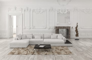 Classic white in neutral room
