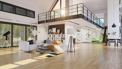 Wood in villa interior design